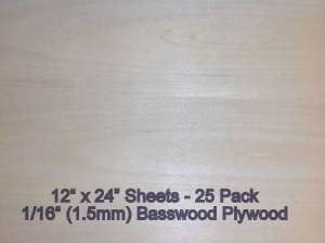 EZCut Basswood Plywood NEW! -  1/16